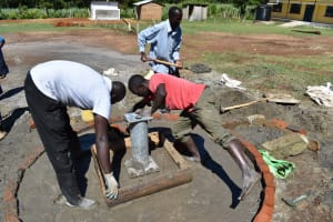 The Water Project: Muriola Primary School -  Apron Placement