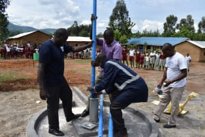 The Water Project: Muriola Primary School -  Pump Instalation
