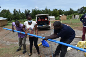 The Water Project: Muriola Primary School -  Pipe Joining
