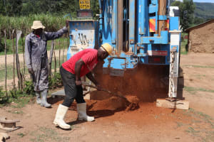 The Water Project: Muriola Primary School -  Beginning To Drill