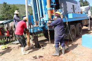 The Water Project: Muriola Primary School -  Hammer Fixing