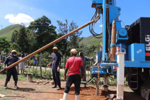The Water Project: Muriola Primary School -  Placement Of Drilling Rod