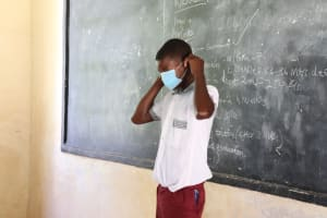 The Water Project: Muriola Primary School -  Proper Masking Demonstration