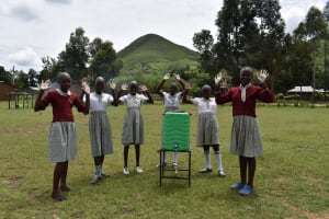 The Water Project: Muriola Primary School -  Students At Handwashing Station