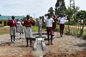 The Water Project: Muriola Primary School -  Students At The Water Point