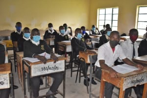 The Water Project: Shamberere Boys' High School -  Inside A Classroom