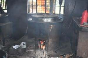 The Water Project: Shamberere Boys' High School -  Food Cooking Inside The Kitchen