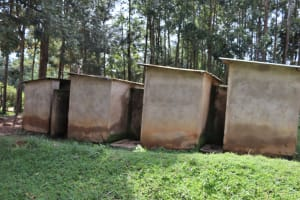 The Water Project: Bukhakunga Primary School -  Boys Latrines