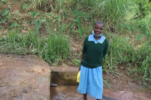 The Water Project: Bukhakunga Primary School -  Celine At The Spring