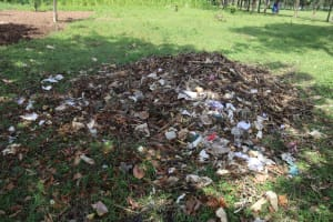 The Water Project: Bukhakunga Primary School -  Garbage Disposal Heap