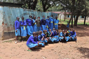 The Water Project: Bukhakunga Primary School -  Pupils Posing At Their Schools Entrance