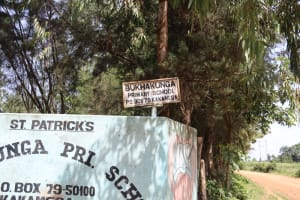 The Water Project: Bukhakunga Primary School -  School Sign Post
