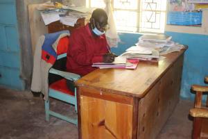 The Water Project: Bukhakunga Primary School -  Headteacher John Chiliswa Inside His Office