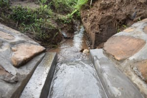 The Water Project: Ematetie Community, Amasetse Spring -  A Good Drainage System Of Amasetse Spring