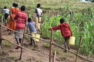 The Water Project: Ematetie Community, Amasetse Spring -  Amasetse Spring Ready To Use