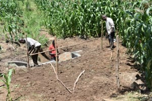 The Water Project: Ematetie Community, Amasetse Spring -  Building Fence