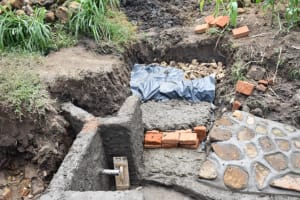 The Water Project: Ematetie Community, Amasetse Spring -  Building Steps