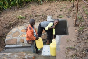 The Water Project: Ematetie Community, Amasetse Spring -  Cheers And May God Bless You