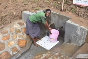 The Water Project: Ematetie Community, Amasetse Spring -  Happy At Amasetse Spring