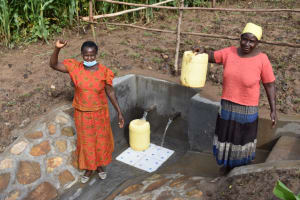 The Water Project: Ematetie Community, Amasetse Spring -  Happy For Clean Water
