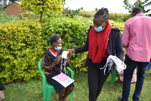 The Water Project: Ematetie Community, Amasetse Spring -  Masks For Participants