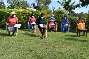 The Water Project: Ematetie Community, Amasetse Spring -  Participants Getting Engaged