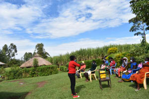 The Water Project: Ematetie Community, Amasetse Spring -  Teaching Cough And Sneeze In Elbows