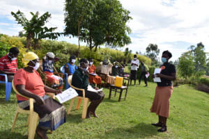 The Water Project: Ematetie Community, Amasetse Spring -  Training Ongoing