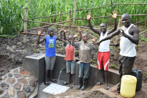 The Water Project: Musango Community, Wambani Spring -  Cheers And Thank You