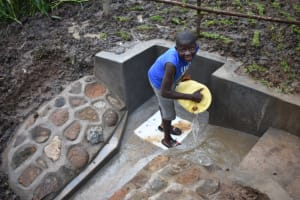 The Water Project: Musango Community, Wambani Spring -  Cleaning The Spring Stairs