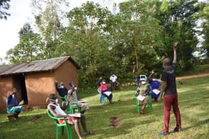 The Water Project: Musango Community, Wambani Spring -  Participants Actively Answering Questions