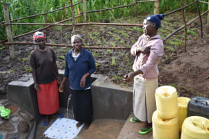 The Water Project: Musango Community, Wambani Spring -  People Posing At The Water Point