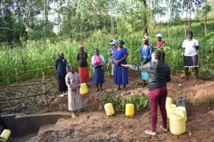 The Water Project: Musango Community, Wambani Spring -  Site Management Session At The Spring