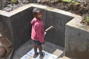 The Water Project: Musango Community, Wambani Spring -  A Young Boy At The Spring