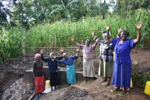 The Water Project: Musango Community, Wambani Spring -  Women Celebrate With Joy