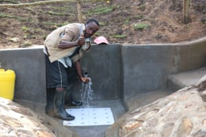 The Water Project: Ikoli Community, Odongo Spring -  Cheers And Thanks