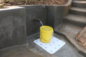 The Water Project: Ikoli Community, Odongo Spring -  Clean Water Flowing