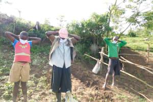 The Water Project: Ikoli Community, Odongo Spring -  Masking Up