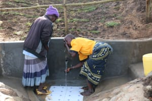 The Water Project: Ikoli Community, Odongo Spring -  People Celebrating At The Water Point