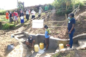 The Water Project: Ikoli Community, Odongo Spring -  Site Management Training At The Spring