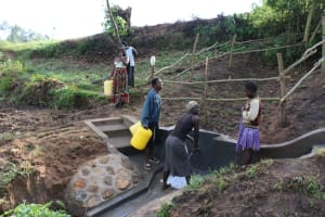 The Water Project: Ikoli Community, Odongo Spring -  Happy Day At The Spring