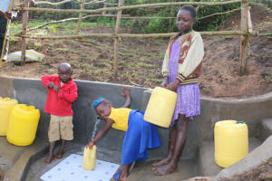 The Water Project: Ikoli Community, Odongo Spring -  Kids At The Spring