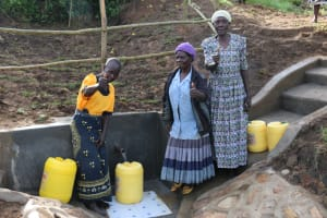 The Water Project: Ikoli Community, Odongo Spring -  Thumbs Up At The Spring