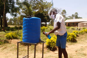 The Water Project: St. Benedict Emutetemo Primary School -  Bernie O Washing His Hands