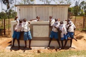 The Water Project: St. Benedict Emutetemo Primary School -  Boys Vip Latrines