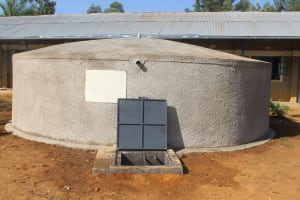 The Water Project: St. Benedict Emutetemo Primary School -  Complete Rain Water Harvesting Tank