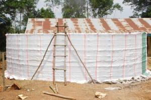 The Water Project: St. Benedict Emutetemo Primary School -  Construction Of Rain Water Harvesting Tank