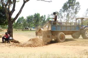 The Water Project: St. Benedict Emutetemo Primary School -  Delivery Of Construction Materials