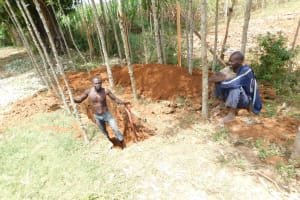 The Water Project: St. Benedict Emutetemo Primary School -  Digging Of The Pit Latrine