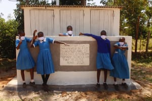 The Water Project: St. Benedict Emutetemo Primary School -  Girls At New Vip Latrines